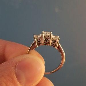 1 cttw 14k white gold 3 stone diamond ring